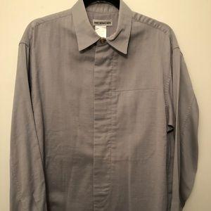 Men's Issey Miyake Button Down Shirt w/Placket. Sm